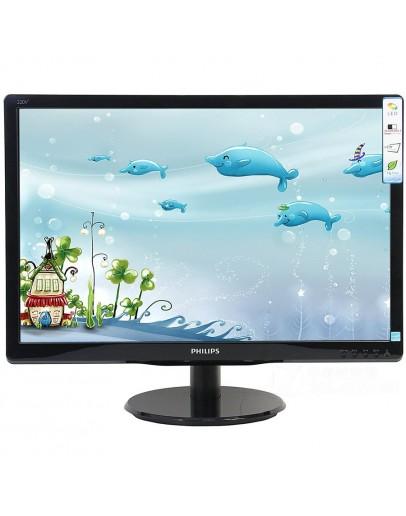 Monitor LED Philips 193V5LSB2/10, V-line, 18.5 1366x768@60Hz, 16:9, TN, 5ms, 200nits, Black, 3 Years, VESA100x100/VGA/