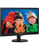 Monitor LED Philips 203V5LSB26/10, V-line, 19.5 1600x900@60Hz, 16:9, TN, 5ms, 200nits, Black, 3 Years, VESA100x100/VGA/