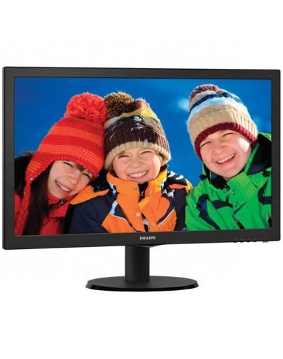 Monitor LED Philips 223V5LSB/00, V-line, 21.5 1920x1080@60Hz, 16:9, TN, 5ms, 250nits, Black, 3 Years, VESA100x100/VGA/DVI/