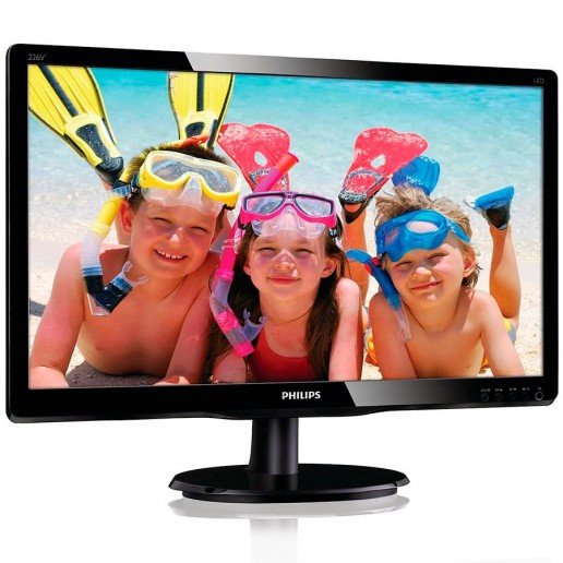 Monitor LED Philips 226V4LSB2/10 (21.5 LED Full HD 5ms 1920x1080 16/9 VGA 200cd/m 10M:1 VESA) GlossyBlack