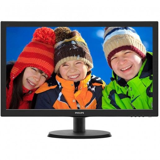 Monitor LED Philips 240V5QDSB/00, V-line, 23.8 1920x1080@60Hz, 16:9, IPS, 5ms, 250nits, Black, 3 Years, VESA100x100/VGA/DVI/HDMI/