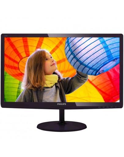 PHILIPS Monitor LED E-Line 247E6QDAD (23.6, ADS-IPS, 16.9, 1920x1080, 5ms, 20M:1, 250 cd/m2, VGA, DVI, HDMI, Speakers) Black cherry, 3y