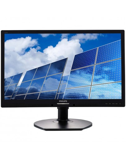 PHILIPS Monitor WLED B Line 221B6LPCB (21.5, TFT-LCD, 16:9, 1920x1080, 5ms, 20M:1, 250 cd/m2, VGA, DVI-D, VESA, 4xUSB 2.0), speakers 2x2W, Black, 2Y