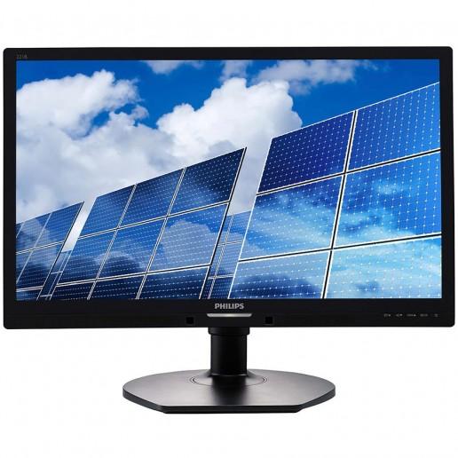 PHILIPS Monitor WLED B Line 221B6LPCB (21.5, TFT-LCD, 16:9, 1920x1080, 5ms, 20M:1, 250 cd/m2, VGA, DVI-D, VESA, 4xUSB 2.0), speakers 2x2W, Black, 2Y