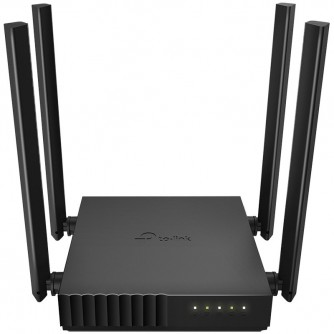 AC1200 Dual-band Wi-Fi router, up to 867 Mbps at 5 GHz + up to 300 Mbps at 2.4 GHz, support for 802.11ac/n/a/b/g/standards, Wi-Fi On ,4xFixed antennas