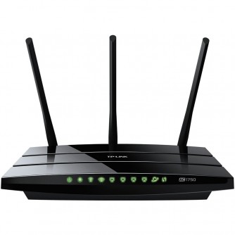 AC1750 Dual Band Wireless Gigabit Router, Atheros, 3T3R, 1300Mbps at 5Ghz + 450Mbps at 2.4Ghz, 802.11ac/a/b/g/n, 4-port Gigabit Switch, Wireless On/Off and WPS button, 1 USB ports, 3 external antennas