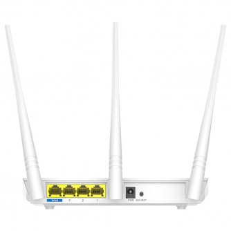 Tenda Wi-Fi Router 300Mbps, 3x5dbi fixed antennas, 1x10/100Mbps WAN Port, 3x10/100Mbps LAN ports; 2.4GHZ, DHCP, PPPoE, Static IP, PPTP, L2TP, WPS, WISP